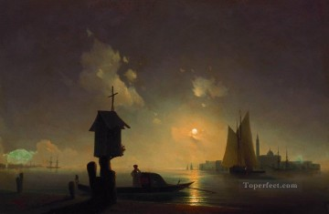 sea view with chapel 1845 1 Romantic Ivan Aivazovsky Russian Oil Paintings