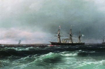 Ivan Konstantinovich Aivazovsky Painting - ship at sea 1870 Romantic Ivan Aivazovsky Russian