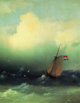storm at sea 1847 Romantic Ivan Aivazovsky Russian Oil Paintings