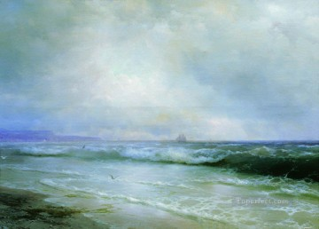 surf 1893 Romantic Ivan Aivazovsky Russian Oil Paintings