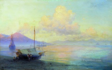 Naples Canvas - the bay of naples in the morning 1893 Romantic Ivan Aivazovsky Russian