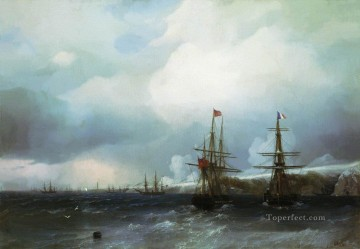 the capture of sebastopol 1855 Romantic Ivan Aivazovsky Russian Oil Paintings