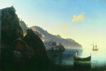 the coast at amalfi 1841 Romantic Ivan Aivazovsky Russian Oil Paintings