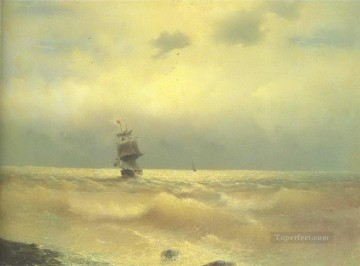 Ivan Konstantinovich Aivazovsky Painting - the ship near coast 1890 Romantic Ivan Aivazovsky Russian