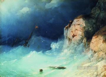 the shipwreck 1864 1 Romantic Ivan Aivazovsky Russian Oil Paintings