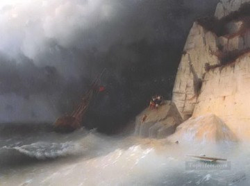shipwreck Painting - the shipwreck 1865 Romantic Ivan Aivazovsky Russian