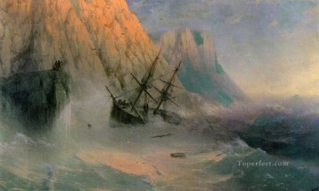 the shipwreck 1875 Romantic Ivan Aivazovsky Russian Oil Paintings
