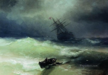 the tempest 1886 1 Romantic Ivan Aivazovsky Russian Oil Paintings