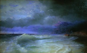 1895 Oil Painting - wave 1895 Romantic Ivan Aivazovsky Russian
