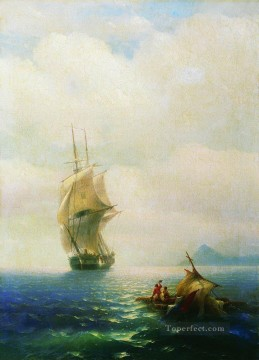 romantic romantism Painting - after the storm 1854 Romantic Ivan Aivazovsky Russian