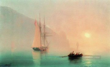 ayu dag on a foggy day 1853 Romantic Ivan Aivazovsky Russian Oil Paintings