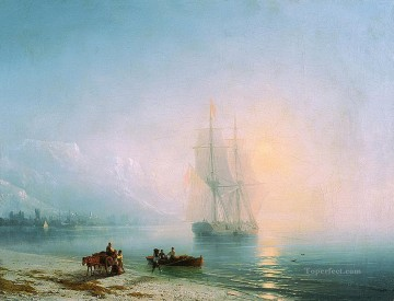 calm sea 1863 Romantic Ivan Aivazovsky Russian Oil Paintings