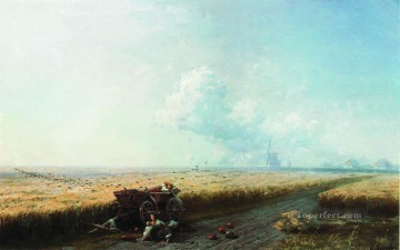 1883 Works - during the harvest in ukraine 1883 Romantic Ivan Aivazovsky Russian