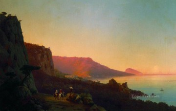 evening in the crimea 1848 Romantic Ivan Aivazovsky Russian Oil Paintings