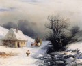 little russian ox cart in winter 1866 Romantic Ivan Aivazovsky Russian