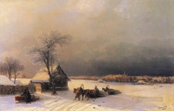 moscow in winter from the sparrow hills Ivan Aivazovsky Oil Paintings