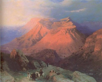 mountain village gunib in daghestan view from the east Ivan Aivazovsky Oil Paintings