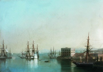 romantic romantism Painting - raid on sevastopol 1852 Romantic Ivan Aivazovsky Russian