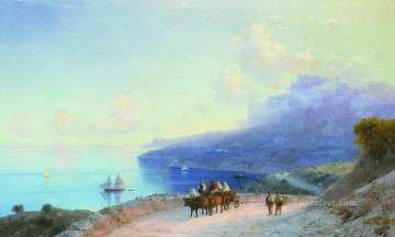 sea coast crimean coast near ai petri 1890 Romantic Ivan Aivazovsky Russian Oil Paintings