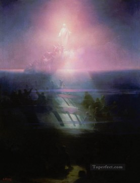 jesus christ Painting - shipwreck of lefort Jesus Christ Romantic Ivan Aivazovsky Russian