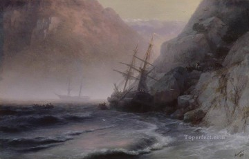 smugglers 1884 Romantic Ivan Aivazovsky Russian Oil Paintings
