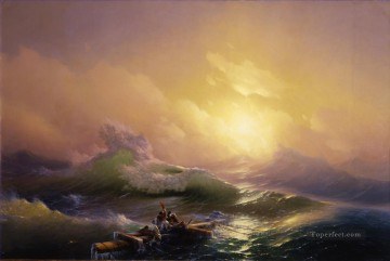 Artworks by 350 Famous Artists Painting - the 9th wave seascape Ivan Aivazovsky