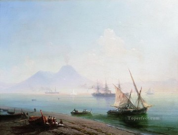 Naples Canvas - the bay of naples in the morning 1877 Romantic Ivan Aivazovsky Russian