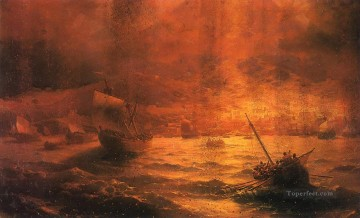the ruins of pompeii 1889 Romantic Ivan Aivazovsky Russian Oil Paintings