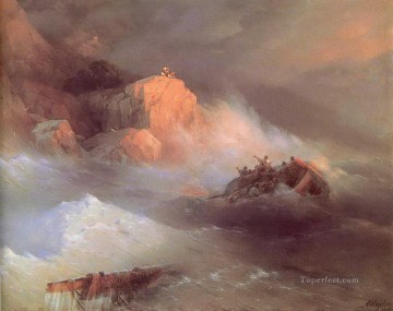 romantic romantism Painting - the shipwreck 1876 Romantic Ivan Aivazovsky Russian