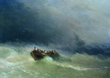shipwreck Painting - the shipwreck 1880 Romantic Ivan Aivazovsky Russian