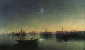 1870 Canvas - venice 1870 Romantic Ivan Aivazovsky Russian