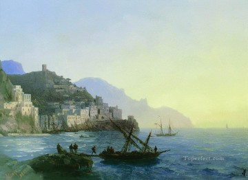 Amalfi Art - view of amalfi 1865 Romantic Ivan Aivazovsky Russian