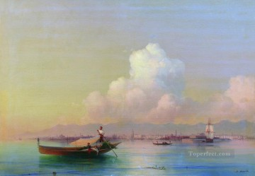 1855 Oil Painting - view of venice from lido 1855 Romantic Ivan Aivazovsky Russian