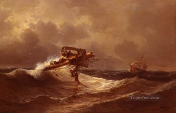 Aivasovsky Ivan Constantinovich The Rescue Ivan Aivazovsky Oil Paintings