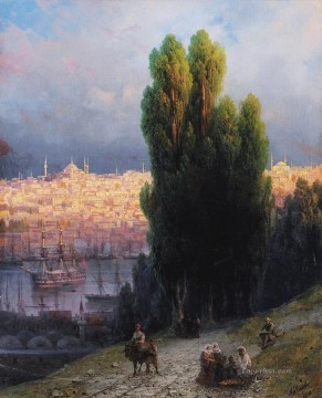 Constant Canvas - constantinople 1880 Romantic Ivan Aivazovsky Russian
