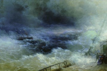 ocean 1896 Romantic Ivan Aivazovsky Russian Oil Paintings