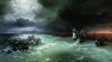 Ivan Konstantinovich Aivazovsky Painting - passage of the jews through the red sea Ivan Aivazovsky