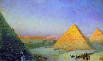 1895 Oil Painting - pyramids 1895 Romantic Ivan Aivazovsky Russian