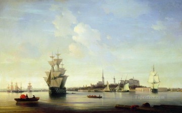 reval 1844 Romantic Ivan Aivazovsky Russian Oil Paintings