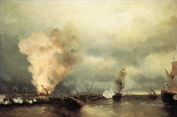 romantic romantism Painting - sea battle near vyborg 1846 Romantic Ivan Aivazovsky Russian