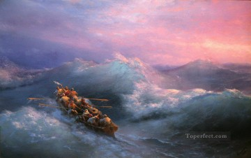 the shipwreck 1884 Romantic Ivan Aivazovsky Russian Oil Paintings