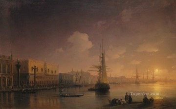 romantic romantism Painting - venetian night Romantic Ivan Aivazovsky Russian