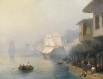 view of the bosporus 1878 Romantic Ivan Aivazovsky Russian Oil Paintings