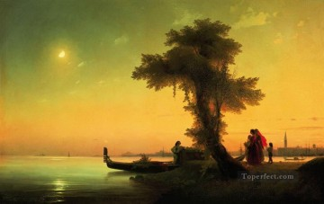 view on lagoon of venice 1841 Romantic Ivan Aivazovsky Russian Oil Paintings