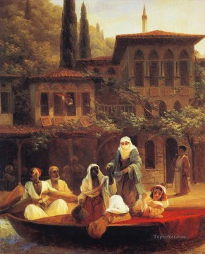 Constant Canvas - boat ride by kumkapi in constantinople Ivan Aivazovsky