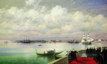 monet venice Painting - byron visiting mhitarists on island of st lazarus in venice Ivan Aivazovsky