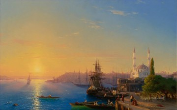 bosphorus Canvas - View of Constantinople and the Bosphorus Romantic Ivan Aivazovsky Russian