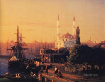 Constant Canvas - constantinople 1856 Romantic Ivan Aivazovsky Russian