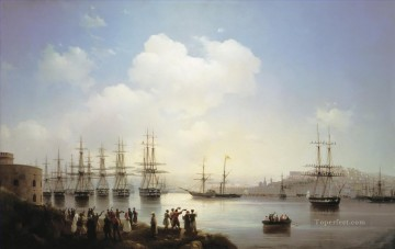 russian squadron on the raid of sevastopol Ivan Aivazovsky Oil Paintings