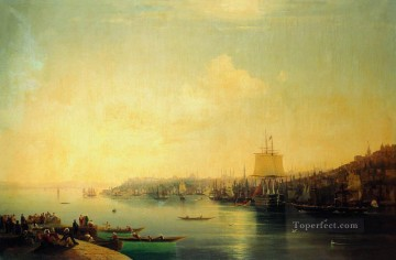 Constant Canvas - view of constantinople 1849 Romantic Ivan Aivazovsky Russian